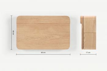 Bộ ghế và bàn học treo tường