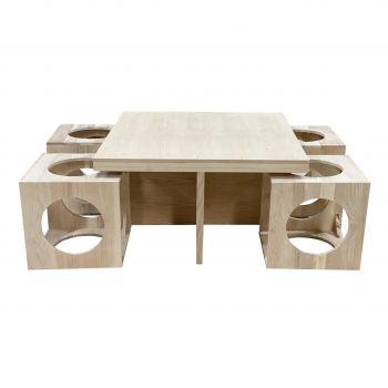 Bộ bàn ăn dáng vuông
